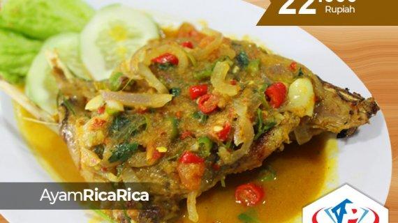 Tidak hanya di Manado, Ayam rica-rica kini tersedia di Medan