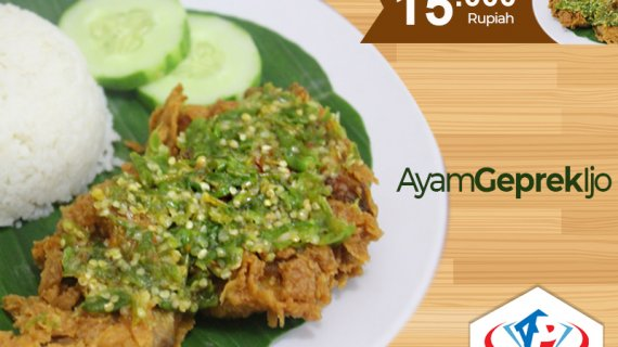 Spesial Makanan Melenial Ayam Geprek Ijo Khas Medan