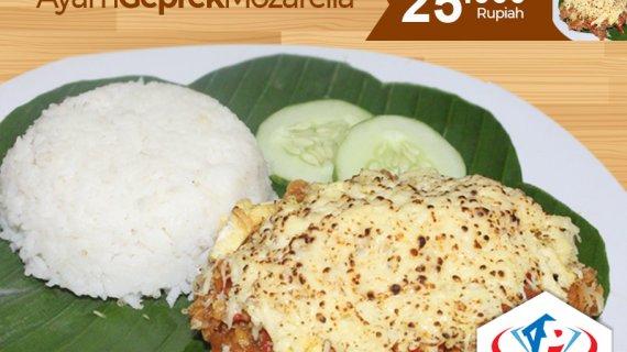 Rasa Nendang Ayam Geprek Mozarella Medan, Buat Galau Hilang